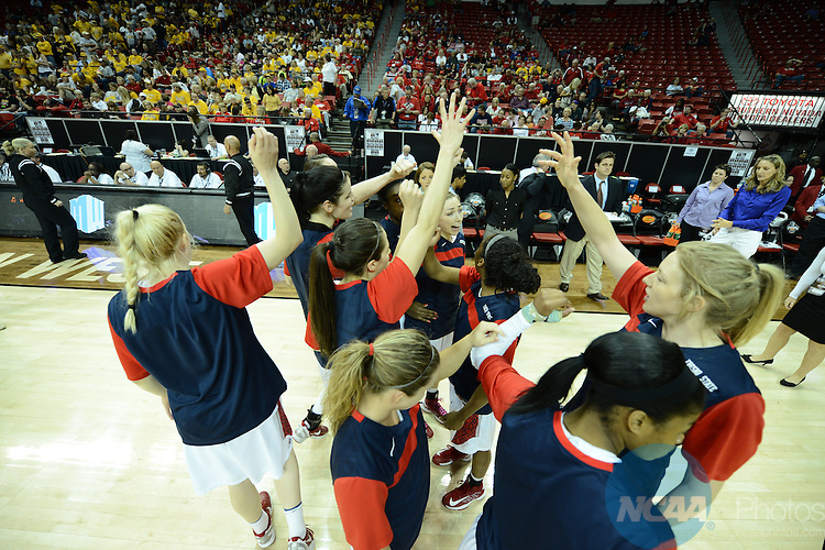 15 MAR 2013: The University of Wyoming takes on Fresno State University during the Mountain West Conference Women's Basketball Tournament held at the Thomas & Mack Center in Las Vegas, NV. Peter Lockley/NCAA Photos