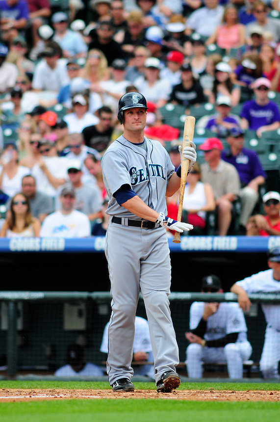June 14, 2009: American League comeback player of the year candidate Russell Branyan during a game between the Seattle Mariners and the Colorado Rockies at Coors Field in Denver, Colorado. The Rockies beat the Mariners 7-1 to tie a club record with 11 straight wins.