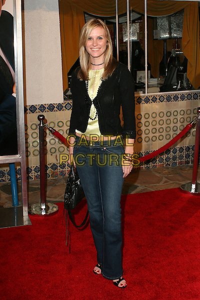 "BONNIE SOMERVILLE.""Fun with Dick and Jane"" Los Angeles Premiere - Arrivals held at the Mann Village Theatre, Westwood, California.  .December 15th, 2005.Photo: Zach Lipp/AdMedia/Capital Pictures.Ref: ZL/ADM.full length jeans denim black cardigan.www.capitalpictures.com.sales@capitalpictures.com.© Capital Pictures."