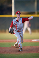 Indiana Hoosiers relief pitcher Tim Herrin (9) delivers a pitch during a game against the Illinois State Redbirds on March 4, 2016 at North Charlotte Regional Park in Port Charlotte, Florida.  Indiana defeated Illinois State 14-1.  (Mike Janes/Four Seam Images)