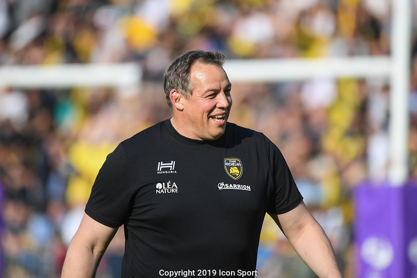 Jono Gibbes coach of La Rochelle during the Challenge Cup semi final match between Stade Rochelais and Sale Sharks on April 20, 2019 in La Rochelle, France. (Photo by Anthony Dibon/Icon Sport)