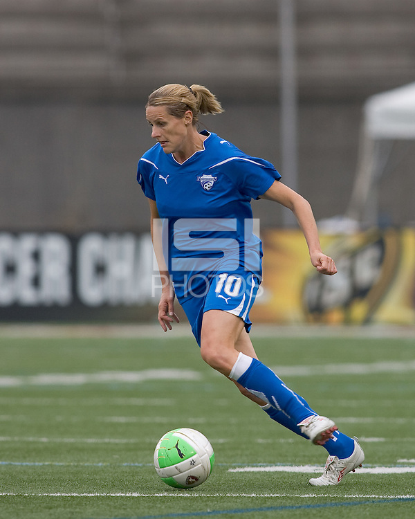 Boston Breakers forward/midfielder Kelly Smith (10). Sky Blue FC defeated the Boston Breakers, 2-1, at Harvard Stadium on June 13, 2010.