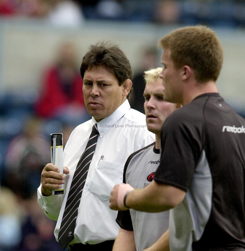 Photo. Richard Lane.London Wasps v Saracens. Zurich Premiership. 22/09/2002..Wayne Shelford