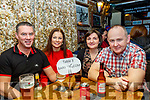 L-R Jason Sinnott, Michelle O'Halloran-Sinnott with Susanna&John Fitzgerald, pictured taking part in the Derryquay National school fundraising quiz in the Railway Tavern, Camp last Friday night.
