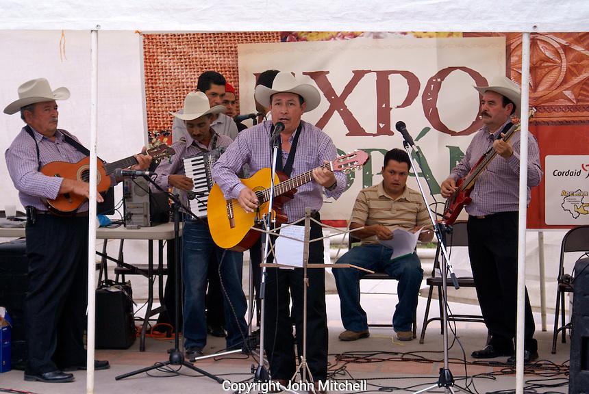 Honduran musical group performing in Santa Rosa de Copan, Honduras.