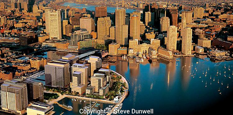 aerial Fan pier composite with Neoscape model, Boston, MA