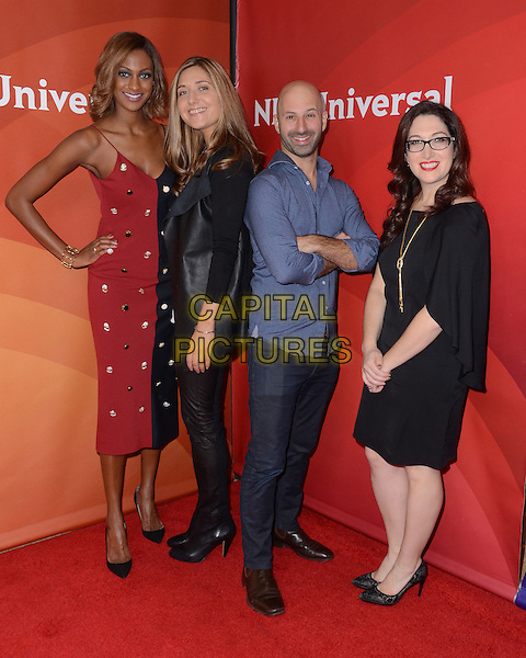 14 January  - Pasadena, Ca - Lauren Maillian, Sarah Prevette, Ido Leffler, Randi Zuckerberg. NBC Universal Press Tour Day 2 held at The Langham Huntington Hotel.  <br /> CAP/ADM/BT<br /> &copy;BT/ADM/Capital Pictures