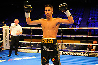 Razza Hamza (black shorts) defeats Sergio Gonzalez during a Boxing Show at the The O2 Arena on 23rd June 2018