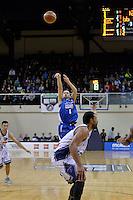 Izayah Mauriohooho-Le'afa in action during the NBL Final Four - Saints v Giants at TSB Bank Arena, Wellington, New Zealand on Friday 4 July 2014. <br /> Photo by Masanori Udagawa. <br /> www.photowellington.photoshelter.com.