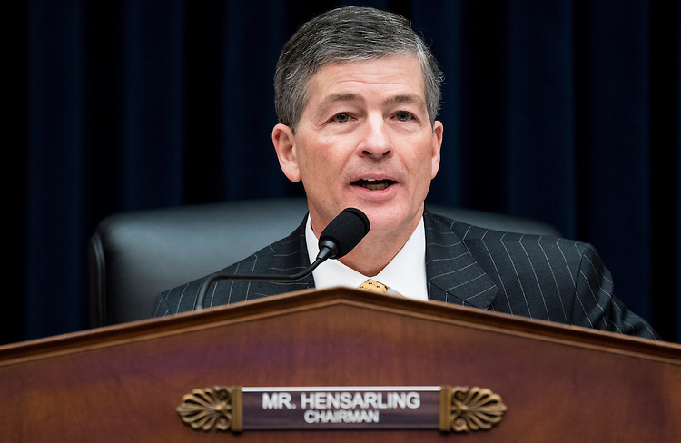 UNITED STATES - FEBRUARY 2: Chairman Jeb Hensarling, R-Texas, runs the House Financial Services Committee meeting to organize for the 115th Congress on Thursday, Feb. 2, 2017. (Photo By Bill Clark/CQ Roll Call)