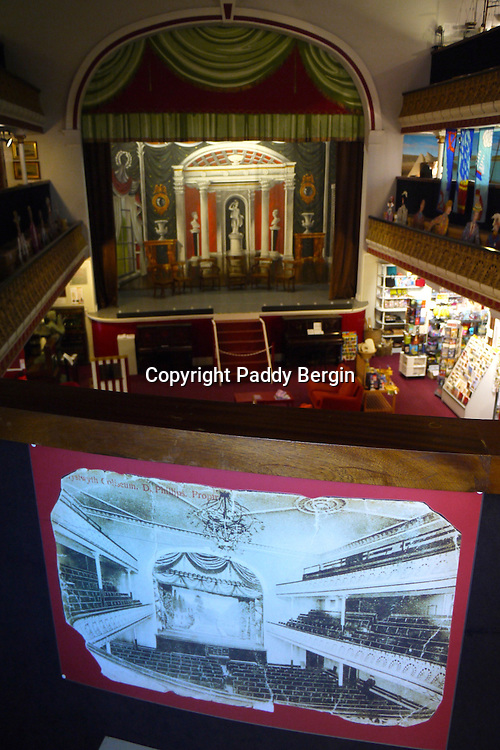 Aberystwyth Museum is situated in an old Vaudeville Theatre and in this photo you can see how it used to be.<br /> <br /> Stock Photo by Paddy Bergin