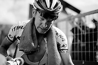 Yuri Trofimov (RUS/Katusha) just after finishing<br /> <br /> Giro d'Italia 2015<br /> stage 19: Gravellona Toce - Cervinia (236km)