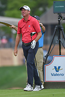 Jim Herman (USA) watches his tee shot on 11 during day 1 of the Valero Texas Open, at the TPC San Antonio Oaks Course, San Antonio, Texas, USA. 4/4/2019.<br /> Picture: Golffile   Ken Murray<br /> <br /> <br /> All photo usage must carry mandatory copyright credit (&copy; Golffile   Ken Murray)