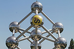 The Atomium ready for the 2019 Tour de France starting in Brussels, Belgium. 4th July 2019<br /> Picture: Colin Flockton | Cyclefile<br /> All photos usage must carry mandatory copyright credit (© Cyclefile | Colin Flockton)