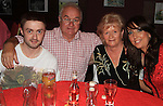 Dean Fitzpatrick, Pat Fitzpatrick, Aquines Fitzpatrick and Ann Finnegan at Leanne Fitzpatrick's 21st in the Star and Crescent..Picture: Shane Maguire / www.newsfile.ie.