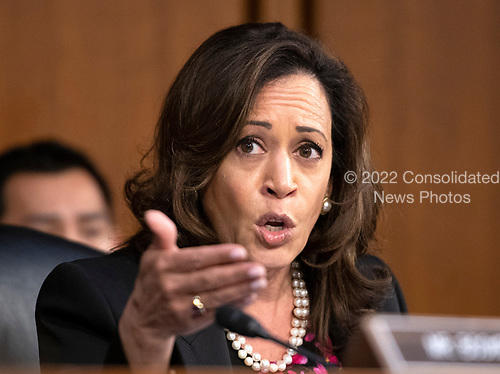 United States Senator Kamala Harris (Democrat of California) argues for a postponement of the hearing because of the late-night document dump prior to Judge Brett Kavanaugh giving testimony before the United States Senate Judiciary Committee on his nomination as Associate Justice of the US Supreme Court to replace the retiring Justice Anthony Kennedy on Capitol Hill in Washington, DC on Tuesday, September 4, 2018.<br /> Credit: Ron Sachs / CNP<br /> (RESTRICTION: NO New York or New Jersey Newspapers or newspapers within a 75 mile radius of New York City)