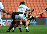 Action from Women's Rugby League World Cup warmup match between the Kiwi Ferns and Wahine Toa at the FMG Stadium in Hamilton, New Zealand on Saturday, 4 November 2017. Photo: Dave Lintott / lintottphoto.co.nz