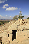 The gate complex and the wall of the fortress at Hurvat Eked, remains of a fortress from the Hellenistic period, the fortress was  also used by the rebels during the Bar Kokhva revolt against the Romans