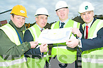 E-Towns: On the Tarbert site of the E-Town's project which kicked off this week were l-r Liam Walsh ( R&L Walsh Construction Castleisland),  Ogie Moran (Shannon Development Regional Development Officer for North Kerry), John Brassil (Shannon Development Chairman) and Richard Walsh (Richard Walsh Associates Quantity Surveyors).