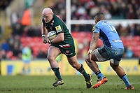Dan Cole of Leicester Tigers in possession. Aviva Premiership match, between Leicester Tigers and London Irish on January 6, 2018 at Welford Road in Leicester, England. Photo by: Patrick Khachfe / JMP