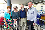 At the Listowel Writers Week reading in the Listowel Library on Thursday morning. <br /> L-r, Eilish Wren (Festival Manager), Edna and Michael Longley (Belfast) and Bartie Flynn (Listowel Library).