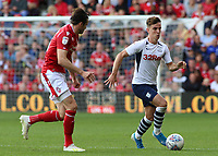 Preston North End's Josh Harrop pushes forward<br /> <br /> Photographer David Shipman/CameraSport<br /> <br /> The EFL Sky Bet Championship - Nottingham Forest v Preston North End - Saturday 31st August 2019 - The City Ground - Nottingham<br /> <br /> World Copyright © 2019 CameraSport. All rights reserved. 43 Linden Ave. Countesthorpe. Leicester. England. LE8 5PG - Tel: +44 (0) 116 277 4147 - admin@camerasport.com - www.camerasport.com