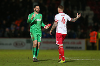 Tom King (L) and Jack King of Stevenage at the final whistle during Stevenage vs Reading, Emirates FA Cup Football at the Lamex Stadium on 6th January 2018