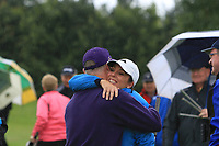 Celebrations on the 15th green as Tullamore win the Final round of the Irish Mixed Foursomes Leinster Final at Millicent Golf Club, Clane, Co. Kildare. 06/08/2017<br /> Picture: Golffile | Thos Caffrey<br /> <br /> <br /> All photo usage must carry mandatory copyright credit     (&copy; Golffile | Thos Caffrey)