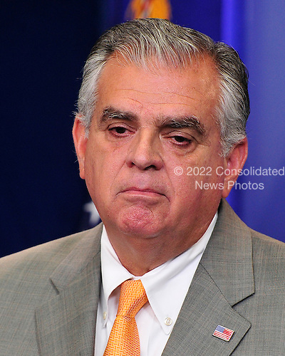 United States Secretary of Transportation Ray LaHood briefs the White House media in the need to pass the Federal Aviation Agency (FAA) funding bill in the Brady Briefing Room at the White House in Washington, D.C. on Thursday, July 28, 2011..Credit: Ron Sachs / Pool via CNP
