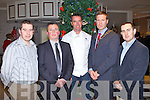 FOOD FAIR: Celebrity Chef Kevin Dundon at the Garvey's Food Fair at the Earl of Desmond hotel on Friday l-r: Kevin O'Connor (Garvey's), Tim Moynihan (Recovery Haven), Kevin Dundon, Pat Crean (president Tralee Lyons Club) and Paul O'Connor (Garvey's).
