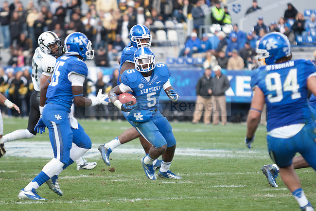 Ashely Lowery, sophomore safety, during the second half of the UK vs. Vanderbilt football game at Commonwealth Stadium, Photo by Adam Chaffins