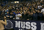 Nevada fans before their NCAA college basketball game against California Baptist in the  of an  in Reno, Nev., Monday, Nov. 19, 2018. (AP Photo/Tom R. Smedes)