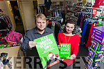 Edward Raynor (Asst. Manager) and volunteer Emily Dolkowska are calling on people to donate any unwanted Christmas presents into the Oxfam shopping Tralee.