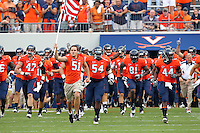Sept. 3, 2011 - Charlottesville, Virginia - USA; The Virginia Cavaliers take the field during an NCAA football game against William & Mary at Scott Stadium. Virginia won 40-3. (Credit Image: © Andrew Shurtlef