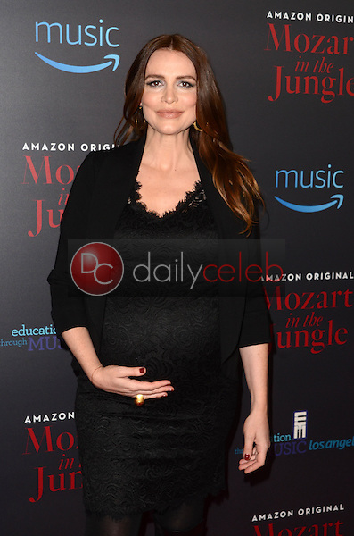 "Saffron Burrows<br /> at the ""Mozart In The Jungle"" Special Screening and Concert, The Grove, Los Angeles, CA 12-01-16<br /> David Edwards/DailyCeleb.com 818-249-4998"