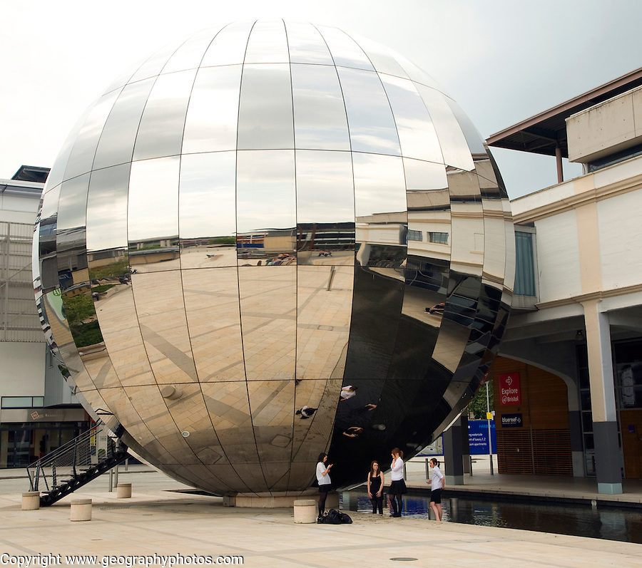 Large 'disco' mirror ball, Millenium Square, Bristol