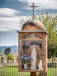Roadside shrine, New Cuyama, California