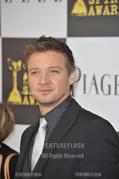 Jeremy Renner at the 25th Anniversary Film Independent Spirit Awards at the L.A. Live Event Deck in downtown Los Angeles..March 5, 2010  Los Angeles, CA.Picture: Paul Smith / Featureflash