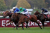 October 07, 2018, Longchamp, FRANCE - One Master (No. 13) with Pierre-Charles Boudot up winning the Qatar Prix de La Foret (Gr. I) at ParisLongchamp Race Course  [Copyright (c) Sandra Scherning/Eclipse Sportswire)]