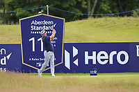 Ryan Fox (NZL) on the 11th during Round 2 of the Aberdeen Standard Investments Scottish Open 2019 at The Renaissance Club, North Berwick, Scotland on Friday 12th July 2019.<br /> Picture:  Thos Caffrey / Golffile<br /> <br /> All photos usage must carry mandatory copyright credit (© Golffile | Thos Caffrey)