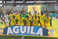 NEIVA - COLOMBIA, 01-09-2018: Jugadores de Leones F.C. posan para una foto previo al partido entre Atlético Huila y Leones F.C. por la fecha 7 de la Liga Águila II 2018 jugado en el estadio Guillermo Plazas Alcid de la ciudad de Neiva. / Players of Leones F.C. pose to a photo prior the match between Atletico Huila and Leones F.C. for the date 7 of the Aguila League II 2018 played at Guillermo Plazas Alcid in Neiva city. VizzorImage / Sergio Reyes / Cont