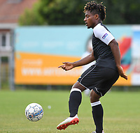 20190717 - LICHTERVELDE , BELGIUM : Roeselare's Kingsley Madu pictured during a friendly game between KSV Roeselare and Royal Excelsior Mouscron Moeskroen during the preparations for the 2019-2020 season , Wednesday 17 July 2019 ,  PHOTO DAVID CATRY | SPORTPIX.BE