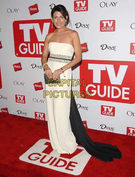 LINDA EDELSTEIN.attends The 4th Annual TV Guide Post Emmy Party .held at Social in Hollywood, California, USA, .August 27, 2006..full length strapless black and white dress.Ref: DVS.www.capitalpictures.com.sales@capitalpictures.com.©Debbie VanStory/Capital Pictures