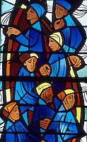 Europe/France/Bretagne/29/Finistère/Ile de Sein : Eglise Saint-Guénolé, vitraux représentant des marins