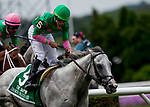 ELMONT, NY - JUNE 09: Disco Partner  #5, ridden by Irad Ortiz, Jr., wins the Jaipur Invitational Stakes on Belmont Stakes Day at Belmont Park on June 9, 2018 in Elmont, New York. (Photo by Kazushi Ishida/Eclipse Sportswire/Getty Images)