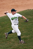 September 6 2008:  Third baseman Paul Gran of the Jamestown Jammers, Class-A affiliate of the Florida Marlins, during a game at Russell Diethrick Park in Jamestown, NY.  Photo by:  Mike Janes/Four Seam Images