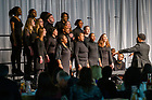 January 20, 2020; Voices of Faith Gospel Choir perform at the beginning of the 2020 Martin Luther King Jr. Celebration Luncheon. (Photo by Matt Cashore/University of Notre Dame)