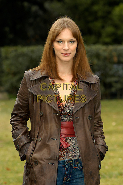"ANTONIA LISKOVA.Photocall for the film ""Riparo - Anis tra di noi"", Rome, Italy..Janaury 10th, 2008.half length brown leather jacket hands in pockets.CAP/CAV.©Luca Cavallari/Capital Pictures."