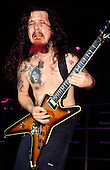 Pantera - guitarist Dimebag Darrell performing live at the Civic Hall Wolverhampton UK - 15 Sep 1994 - Photo by: George Chin/IconicPix