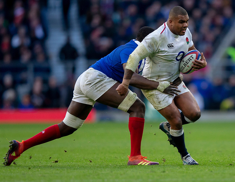 England's Kyle Sinckler in action during todays match<br /> <br /> Photographer Bob Bradford/CameraSport<br /> <br /> Guinness Six Nations Championship - England v France - Sunday 10th February 2019 - Twickenham Stadium - London<br /> <br /> World Copyright © 2019 CameraSport. All rights reserved. 43 Linden Ave. Countesthorpe. Leicester. England. LE8 5PG - Tel: +44 (0) 116 277 4147 - admin@camerasport.com - www.camerasport.com